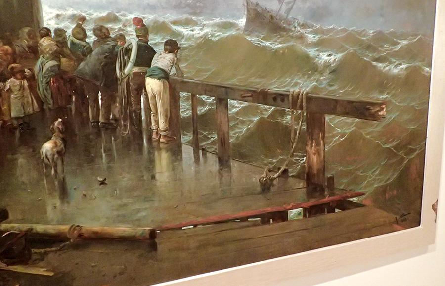 Amenaza de naufragio (detalle)