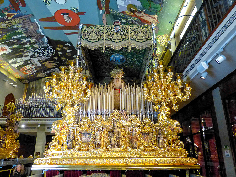 Trono de la Virgen de la Esperanza de Málaga