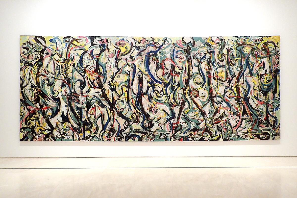 """""""Mural"""" de Jackson Pollock en el Museo Picasso de Málaga"""