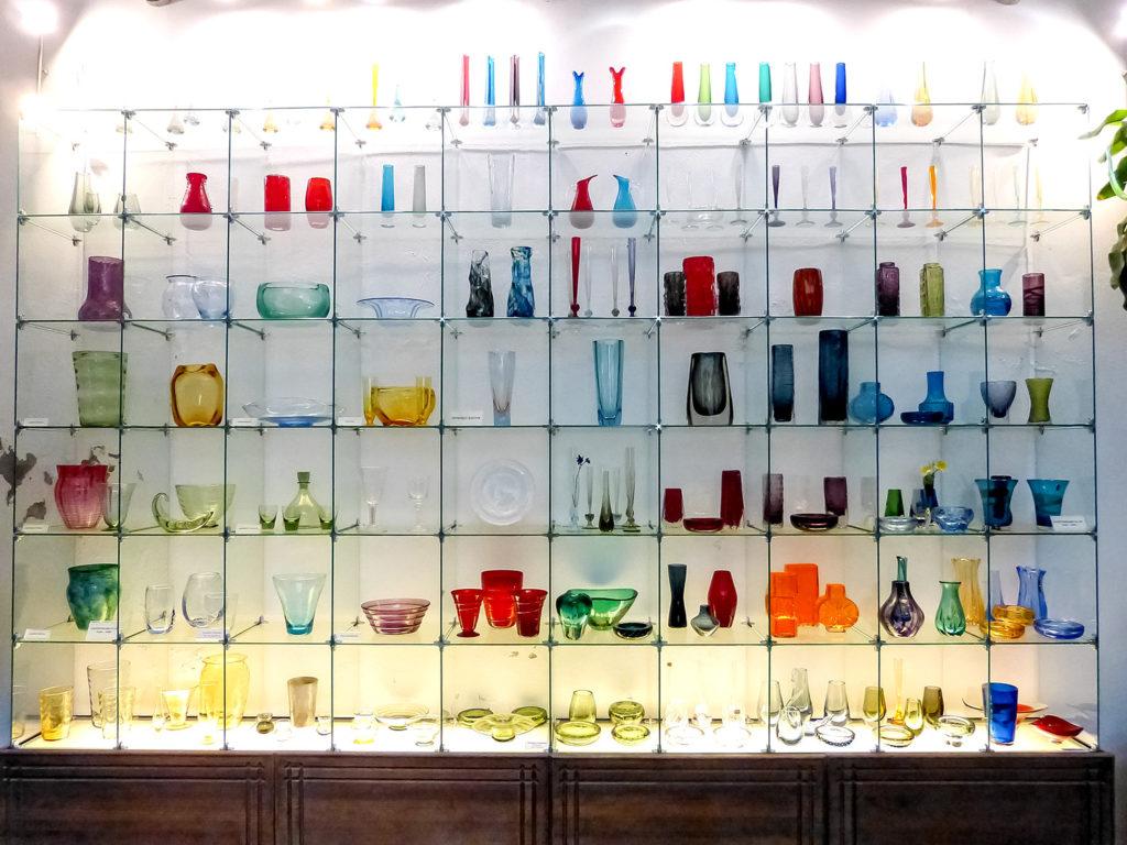 Colección de vidrios pop-art
