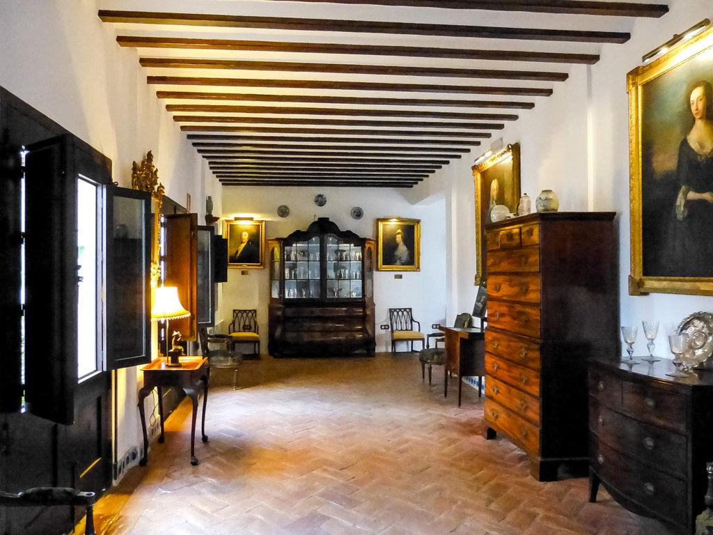 Primera planta del Museo de Vidrio y Cristal de Málaga