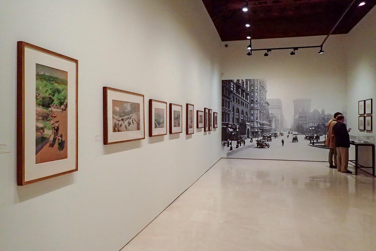 Visión general de la exposición Sorolla : Apuntes de Nueva York